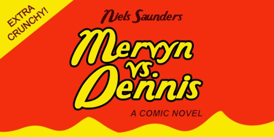 Logo for Mervyn vs. Dennis by Niels Saunders