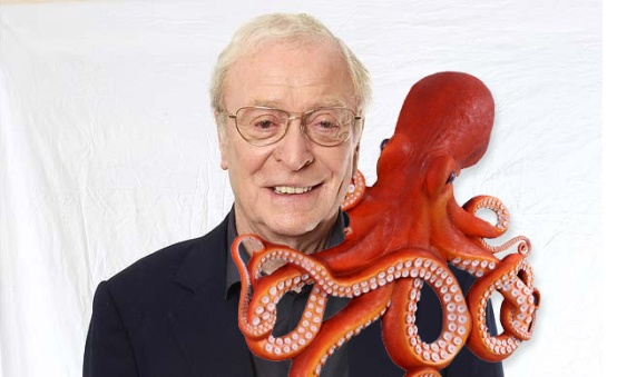Michael Caine With Octopus
